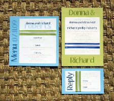 Blue Wedding Invitations 06