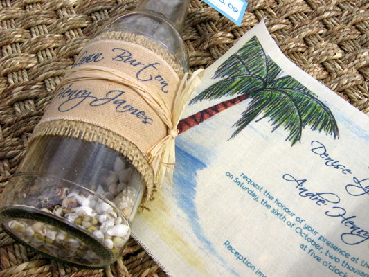 Message In A Bottle Wedding Invitations: Message In A Bottle Invitations