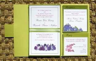 Green Wedding Invitations 06