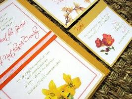 Orange Wedding Invitations 05