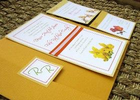 Orange Wedding Invitations 06