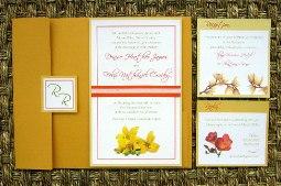 Orange Wedding Invitations 08