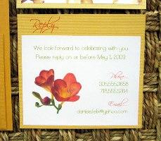 Orange Wedding Invitations 10