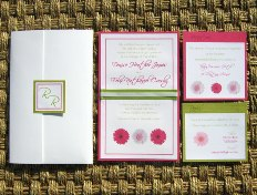 Pink and Green Wedding Invitations 03