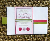 Pink and Green Wedding Invitations 04
