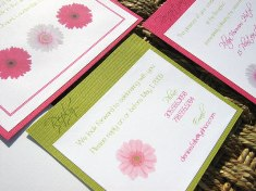 Pink and Green Wedding Invitations 06