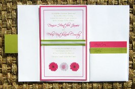 Pink and Green Wedding Invitations 07
