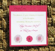 Pink and Green Wedding Invitations 10