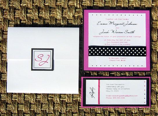Pink And Black Wedding Invitations: Pink Wedding Invitations