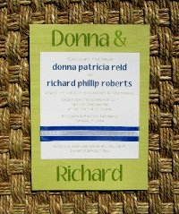 Blue Wedding Invitations 04