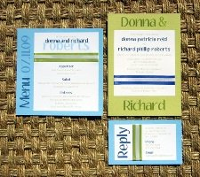 Blue Wedding Invitations 06
