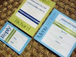 Blue Wedding Invitations 07