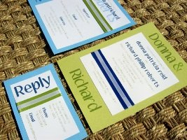 Blue Wedding Invitations 08