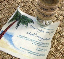 Message in a Bottle Wedding Invitations 08