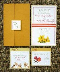 Orange Wedding Invitations 01