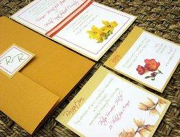 Orange Wedding Invitations 02