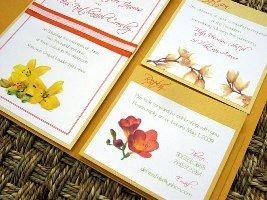 Orange Wedding Invitations 03