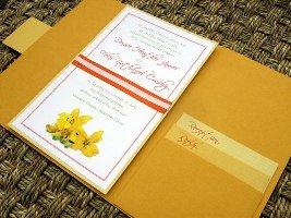 Orange Wedding Invitations 07