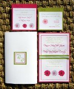 Pink and Green Wedding Invitations 05