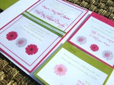 Pink and Green Wedding Invitations 09