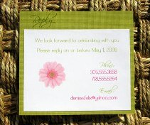 Pink and Green Wedding Invitations 11