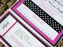 Pink and Black Wedding Invitation 02