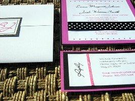 Pink and Black Wedding Invitation 03